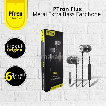 PTron FLUX Headset Extra Bas - Ultra-Soft Ergo
