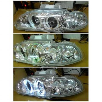HD403-B0WHW-2V - HEAD LAMP - CHROME PROJECTOR HONDA CIVIC 92-95 4D
