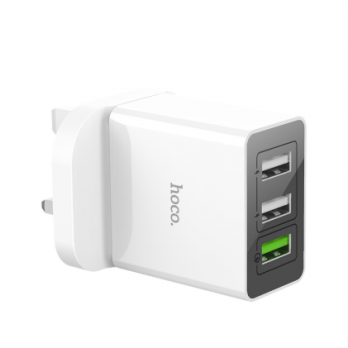 HOCO C48 3 USB Ports Quick Charge QC 3.0 UK Plug