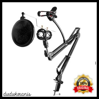 Condenser & Stand Holder 360 Lazypod with Smartphone Clamp ELE-007 - Hitam