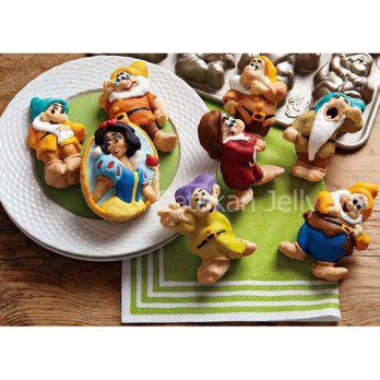 Cetakan Kue / Pudding Snow White & 7 Dwarf