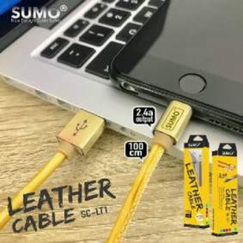 Kabel SUMO Leather SC-LT1 Fast Charging 2.4A | Android / iPhone