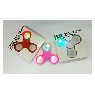fidget Spinner lampu 3 led x 3 sisi ( lampu on off tekan ) SJ0055