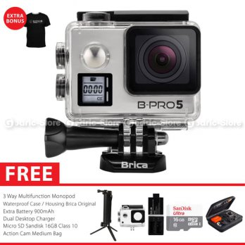 BRICA B-PRO 5 Alpha Edition Version 2S (AE2S) 4K Action Camera Paket Combo 3-Way Extreme