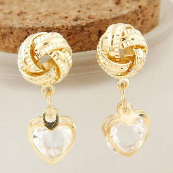 Aylan Heart Shape Earrings - Gold