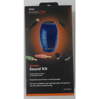 [worldbuyer] Ativa Mobil-IT Portable Sound Kit BLUE/4327408