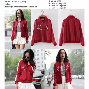 Red Art (S,M,L) Jacket -41045