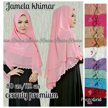 Jamela Khimar Laser 2 Layer SJ0035