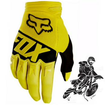 New FOX DIRT ( Yellow ) Sarung Tangan Sepeda Motor Import ORIGINAL