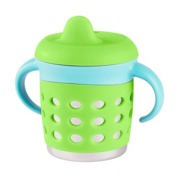 Make My Day Adjustable Sippy Cup - Green/blue