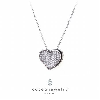 Cocoa Jewelry Candy Love Necklace Silver Color