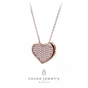 Cocoa Jewelry Candy Love Necklace Rose Gold