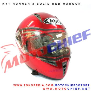 Helm KYT Runner 2 Solid Red