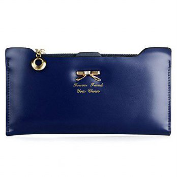 [macyskorea] Enjoydeal Women Fashion Soft Leather Bowknot Clutch Card Purse Wallet Long PU/12680474