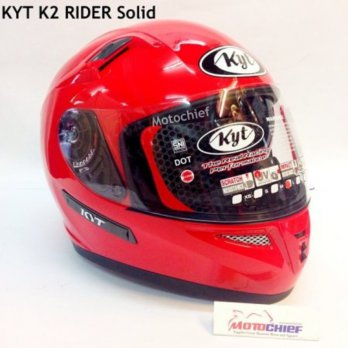 Helm KYT K2 Rider Solid Fire Red