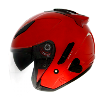 Helm KYT Galaxy Slide Solid Red Maroon