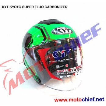 Helm KYT Kyoto Super Fluo Carbonized Green