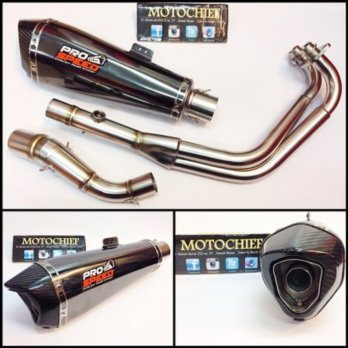 Knalpot Prospeed Shark Black N250FI