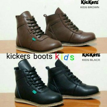 kickers kids boots . sepatu boots anak kids casual santai formal tali