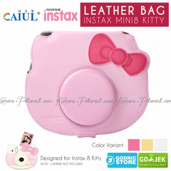 Fujifilm Leather Bag Polaroid Instax Mini 8 Hello Kitty Tas Case Kamera