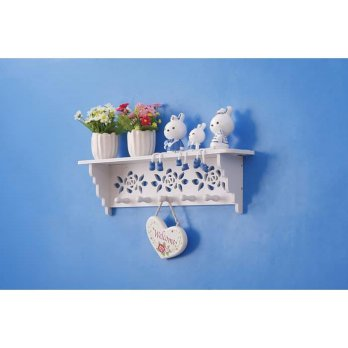 Decorative Rack rak Shabby chic (dengan 5buah hook gantungan)