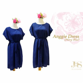 Anggie Dress (Navy Blue) READY 3 WARNA
