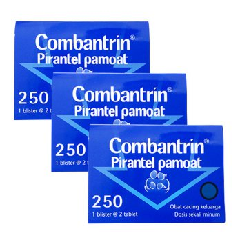 Combantrin Pirantel Pamoat 250mg (2 Tablet) - Paket 3 Strip