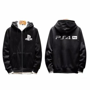 Hoodie Zipper Logo PS4 Pro - Aldira Clothing