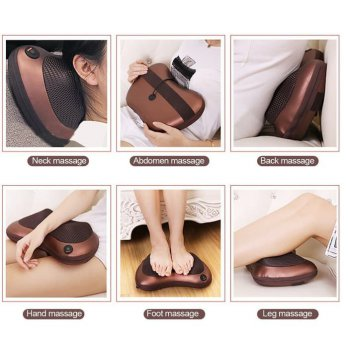 CAR & HOME MASSAGE PILLOW - BANTAL PIJAT LEHER PUNGGUNG
