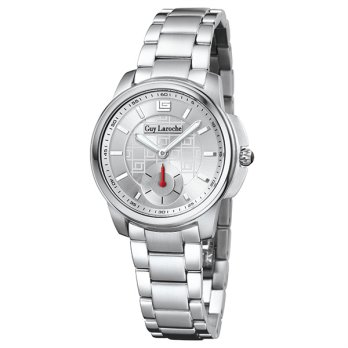 Moment watch - Guy Laroche L1014-01- jam tangan wanita - stainlles steel - putih