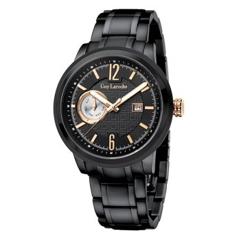 Moment watch - Guy Laroche G3013-05 - jam tangan pria - stainlles steel - hitam