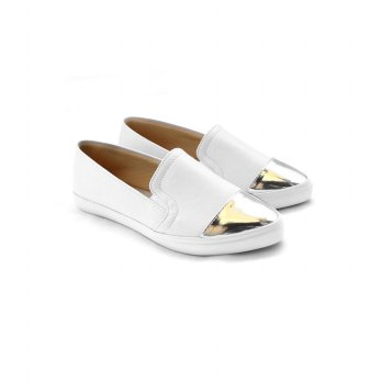AliveLoveArts Trooper White Flats