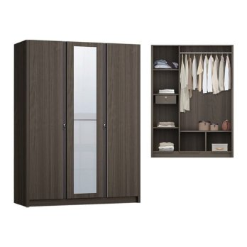 Anya Living Lemari Pakaian Havana 351 Swing - Brown Oak