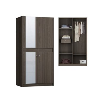 Anya Living Lemari Pakaian Havana 252 Swing - Brown Oak