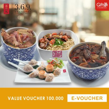 369 Shanghai Dumpling & Noodle - Voucher Value 100.000