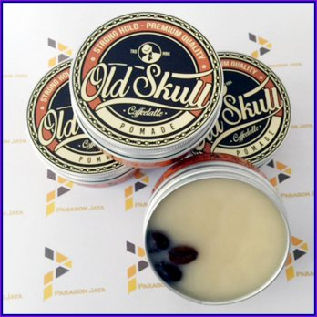 Hair Pomade Rambut Old Skull Strong Hold Coffee Late Bonus Sisir