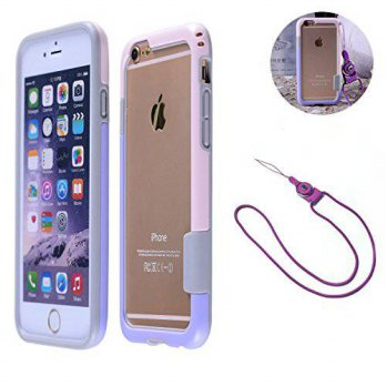 [holiczone] SOSAM iphone 6 plus Lanyard Necklace Case TPU Shockproof Protective Bumper Cas/1409326