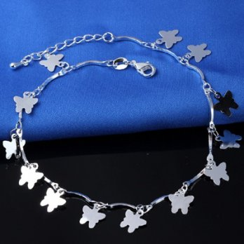 925 sterling silver anklets Anklets female butterfly Dazzling Gifts 73go63 [Milan]