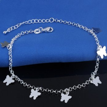 Female elegant and charming 925 sterling silver anklets anklets 73go58 Milan [Collectibles]