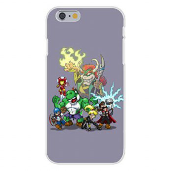 [holiczone] Hat Shark Apple iPhone 6+ (Plus) Custom Case White Plastic Snap On - Video Gam/87586