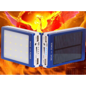 Solar Charger Power Bank Solar 20 LED 100000mah lampu emergency