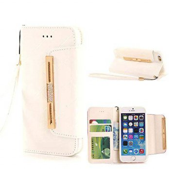 [holiczone] Gotida Leather Wallet Case with Strap for iPhone 6 - White/155793