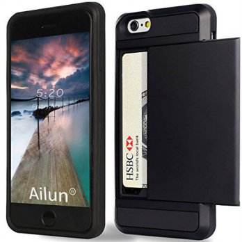 [holiczone] AILUN iPhone 6 Case,[4.7inch]by Ailun,Protective Shell-Smooth Card Slider Wall/268351