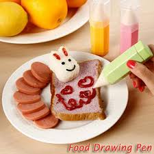 Food Drawing Pen Decorating For Bento Tools 3in1 - Alat Hias Bento Tempat Saus Tempat Mayones Tempat