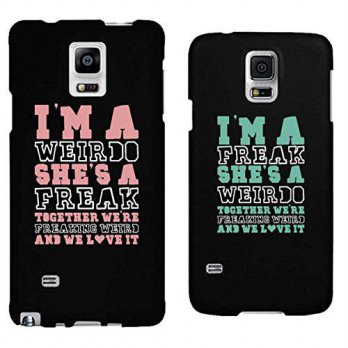 [holiczone] 365 Printing Weirdo and Freak Black Matching Best Friends Phone Cases Christma/311032