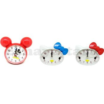 Promo Jam Beker Weker Hello Kitty HK  Mickey Mouse  2 Suara Alarm Zn2068