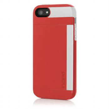 [holiczone] Incipio STOWAWAY Case for iPhone 5S - Retail Packaging - Red/White/224233
