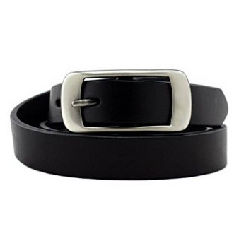 [Macyskorea] KALEIDO KaLeido Womens Head Layer Cowhide Leather Belt (38-40, Black) / 11631778