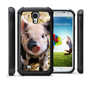 [holiczone] CorpCase Samsung Galaxy S4 Case - Cute Piglet Baby Pig Spotted / Hybrid Unique/100567