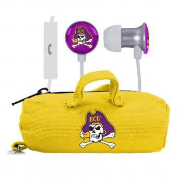 [holiczone] AudioSpice NCAA East Carolina Pirates Scorch Earbuds and Mic Clamshell with Bu/318826